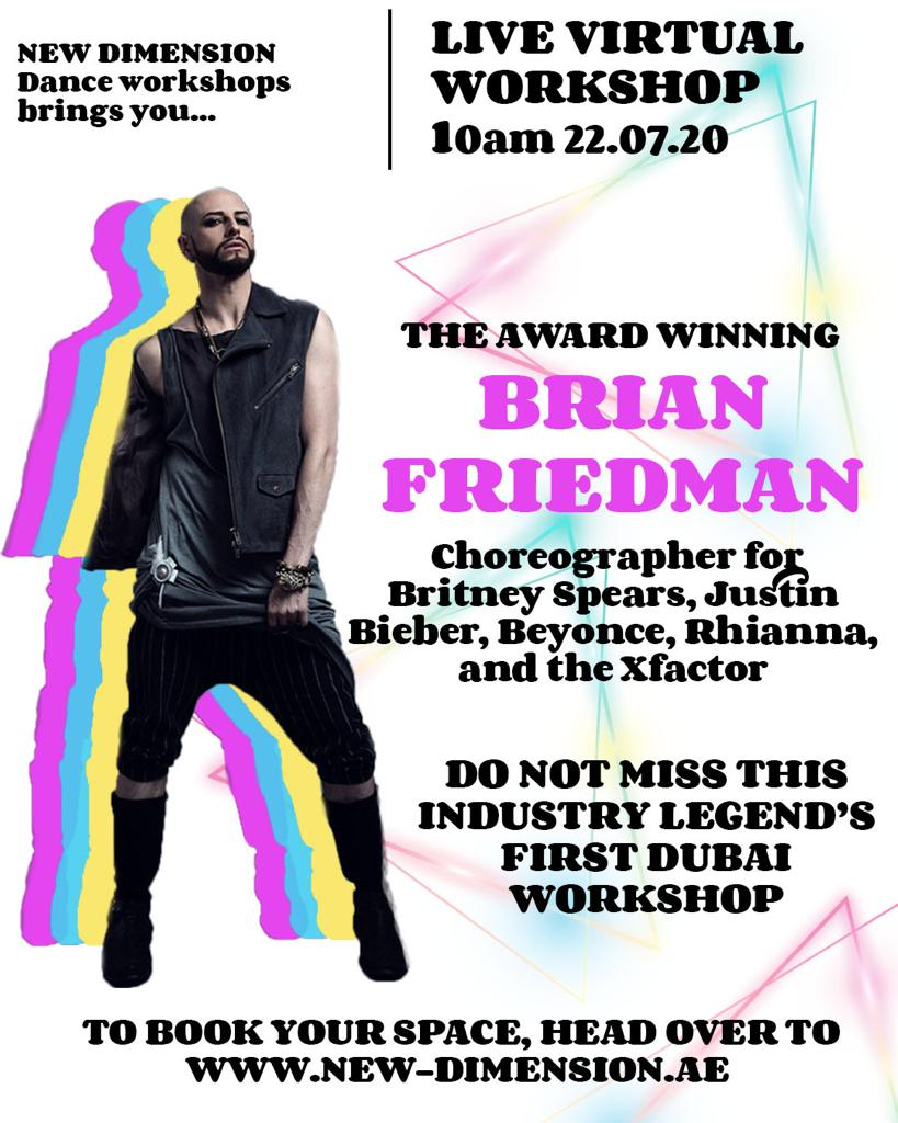 Brian Friedman Workshop in Dubai Details