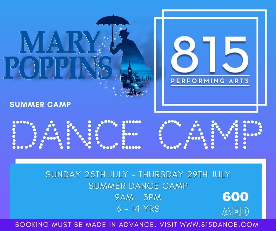 815 Mary Poppins Dance Summer Camp in Dubai 2021